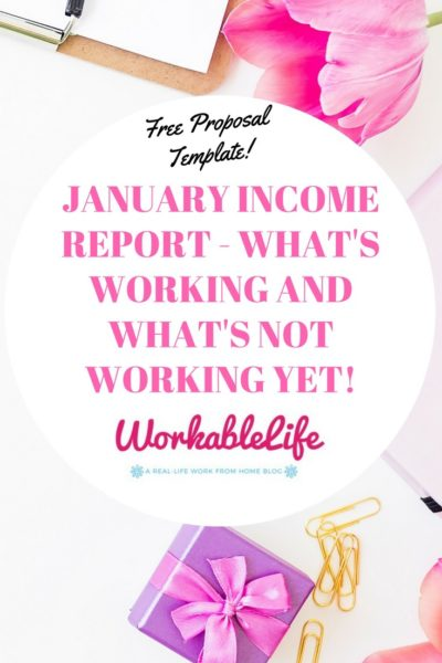 January Income Report – What's Working and What's Not Working Yet